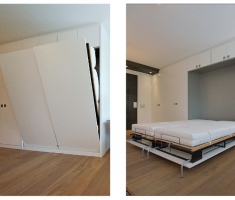 Bed in kastenwand
