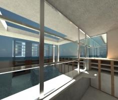 Keuken met oceanview