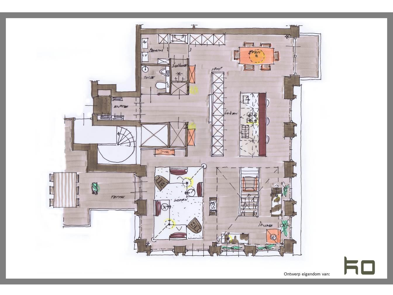 Verdieping 9 penthouse