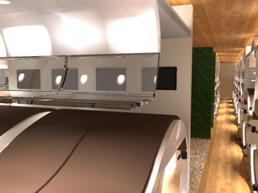 Vliegtuig interieur